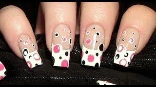 getlinkyoutube.com-Polka Dot Nageldesign selber machen / Simple Nail art Design Tutorial