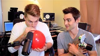 Beatboxing with Sulfur Hexafluoride (Deep Voice Gas) w/ Nick Uhas
