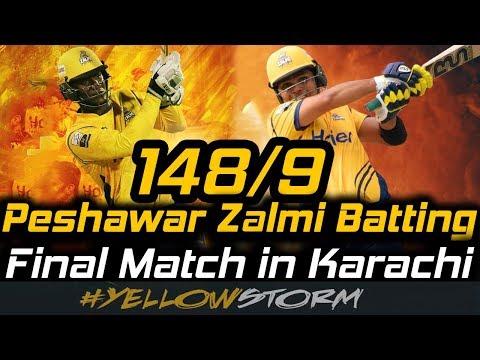 Peshawar Zalmi Batting | PSL 3 Final in Karachi | Peshawar