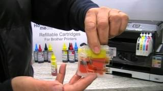 getlinkyoutube.com-Brother LC123 and LC125 refillable cartridges refill instructions.