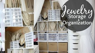 getlinkyoutube.com-Jewelry Storage & Organization // Closet Tour // Jewelry Collection