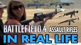 getlinkyoutube.com-BATTLEFIELD 4 WEAPONS IN REAL LIFE - Assault Rifles