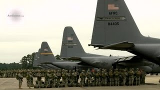 getlinkyoutube.com-Airborne Paratroopers Getting Ready to Jump Out of C-130 Hercules