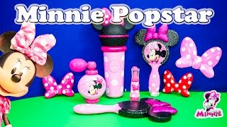 getlinkyoutube.com-DISNEY MINNIE MOUSE BOWTIQUE Popstar Minnie Beauty Set Toys Video Unboxing