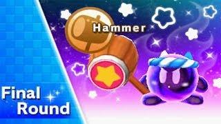 getlinkyoutube.com-Kirby Triple Deluxe - Kirby Fighters (Very Hard) Walkthrough Part 1 - Hammer Ability