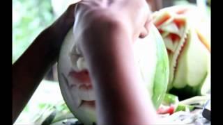 getlinkyoutube.com-Fruit Carving - Bunga dan Topeng - (KLP 4 BG-A)