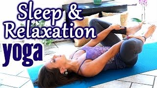 getlinkyoutube.com-Beginners Yoga for Relaxation & Sleep, Flexibility Stretches for Stress, Anxiety & Pain Relief
