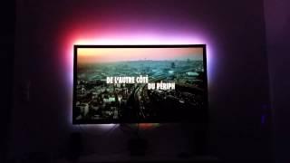 getlinkyoutube.com-Ambilight Lightberry + Raspberry B+ & 64 Leds WS2801 HD