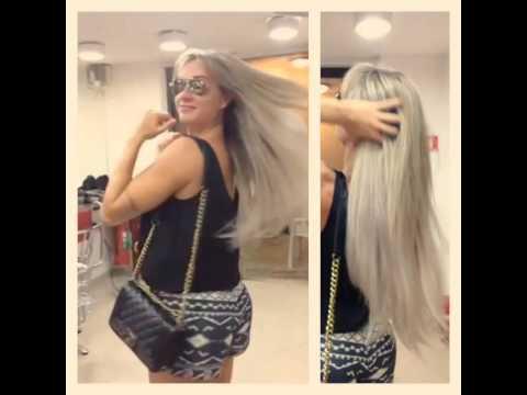 Hoje a Juju Salimeni cuidando  do cabelo com a Lecharmes.