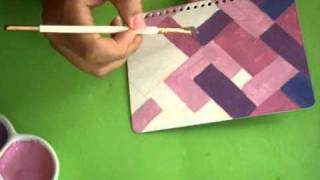 getlinkyoutube.com-Tutorial Como Pintar Cuadernos *Paint Covers* Pintura Facil Para Ti.wmv