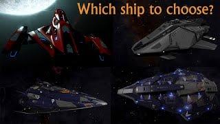 getlinkyoutube.com-Elite: Dangerous. Fer-de-Lance vs Imperial Clipper vs Python vs Federal Assault Ship
