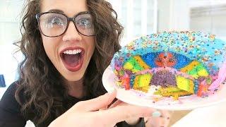 BAKING A TIE DYE CAKE!!!