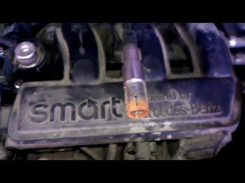 Smart fortwo замена свечей зажигания