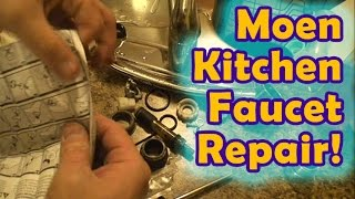 getlinkyoutube.com-Easy Moen Leaking Kitchen Faucet Repair!