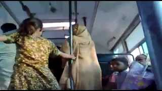 Desi aunties fighting in bus and reveling the 'sex' scandle of each-other. Must see
