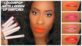 getlinkyoutube.com-ColourPop Matte X Lippie Stixs Review + Lip Swatches on Dark Skin