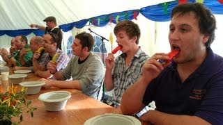 getlinkyoutube.com-Chilli Eating Contest Bath Chilli Festival Sunday 6 October 2013