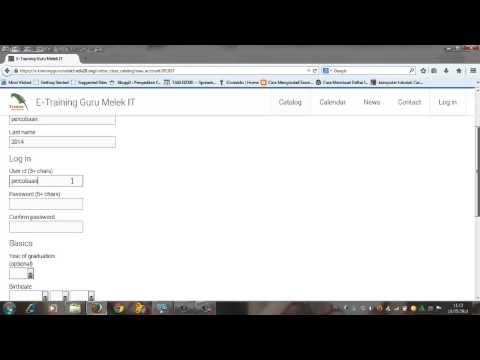 Membuat Account di E training Guru Melek IT by Pak Sukani