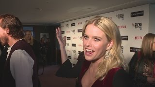 getlinkyoutube.com-Alice Eve cracks us up as fire alarms go off mid interview!