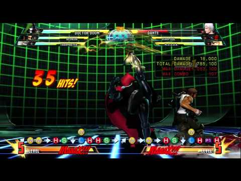 Doctor Doom 1 Million Damage 1 Bar Corner Combo