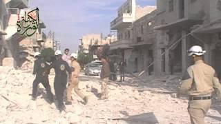 getlinkyoutube.com-21/5/2014 حلب - الشيخ خضر || سقوط برميل الثاني  مما ادى الى تدمير مبنى كامل