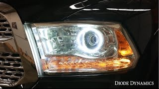 getlinkyoutube.com-How To Install Ram 1500 Angel Eye Halos
