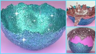 getlinkyoutube.com-DIY Glitter Accent Bowl
