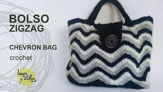 getlinkyoutube.com-Tutorial Bolso Crochet o Ganchillo ZigZag Handbag