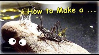 """getlinkyoutube.com-((Parte 2))Como Hacer """"Grillo en Alambre"""" // How to Make a""""Wire Cricket"""" - By Puntoy Alambre"""