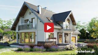 getlinkyoutube.com-Projekt domu HELIODOR,  252,6 m2, wirtualny spacer - archeton.pl