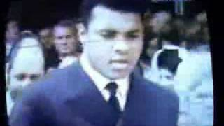 Muhammad Ali and Joe Louis on the funeral of Marciano