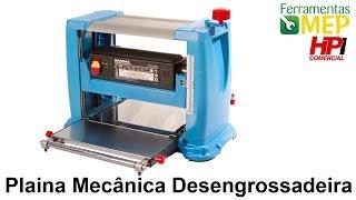 getlinkyoutube.com-Plaina mecanica desengrossadeira 13 polegadas Gamma 1500 watts