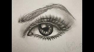 getlinkyoutube.com-Como desenhar Olho Realista - Passo a Passo.