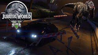 getlinkyoutube.com-GTA V Jurassic World - T-Rex Escape