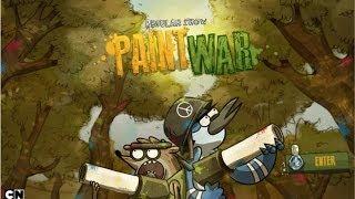 getlinkyoutube.com-Cartoon Network Games: Regular Show - Paint War
