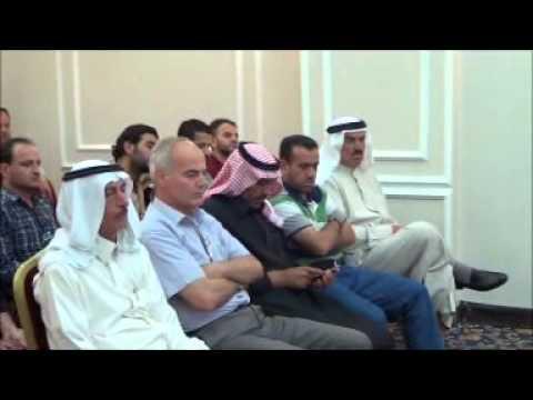 الشيخ احمد عبود الجوعاني يلقي كلمة افتتاح المجلس الوطني العربي في الحسكة
