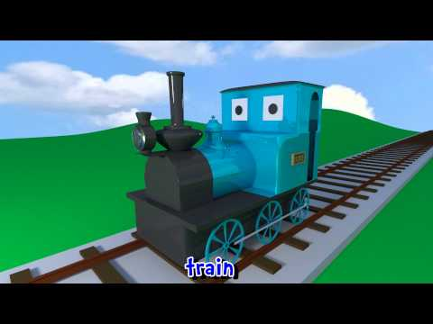 Learn sounds and names of transport vehicles for children, t