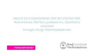 Forskartorget 2018 - Analys och engagemang hos sex statsvetare