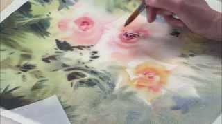 getlinkyoutube.com-Loosen Up with Negative Painting Techniques for Watercolor Flowers--Preview