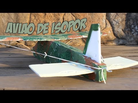 Como Fazer um Avião de Isopor Planador)