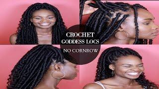 getlinkyoutube.com-How To Do Individual Crochet Goddess Locs - No Cornrows - 5 EASY STEPS