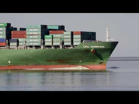 Click to view video CSCL ZEEBRUGGE - IMO 9314234 - Germany - Elbe - Otterndorf