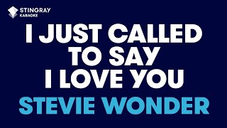 """getlinkyoutube.com-I Just Called To Say I Love You in the Style of """"Stevie Wonder"""" karaoke with lyrics (no lead vocal)"""