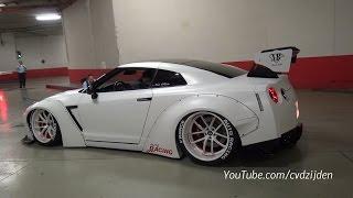 getlinkyoutube.com-Liberty Walk Nissan GT-R R35 w/ Akrapovic Exhaust - Start up & Accerleration Sound!
