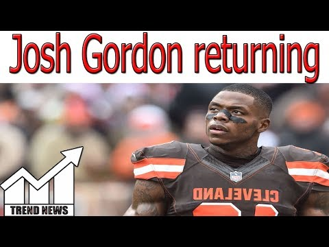 Receiver Josh Gordon returning to Browns after time away for  mental and  physical health  - YouTube cd86480c9