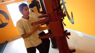 Wooden Dummy Students Training Indian Wing Chun Kung-fu School