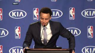 getlinkyoutube.com-Steph Curry breaks down as he thanks his dad Dell Curry during MVP speech