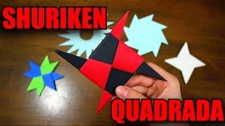 getlinkyoutube.com-Como Fazer uma Shuriken Quadrada! - Origami