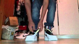 getlinkyoutube.com-Nike RT Air Force One Mid On Feet ( Nike Air Force 1 Givenchy / Riccardo Tisci Collab)
