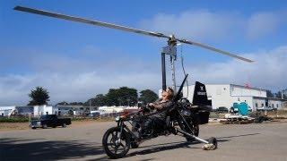 getlinkyoutube.com-Meet Dezsö Molnár and His Flying GyroCycle